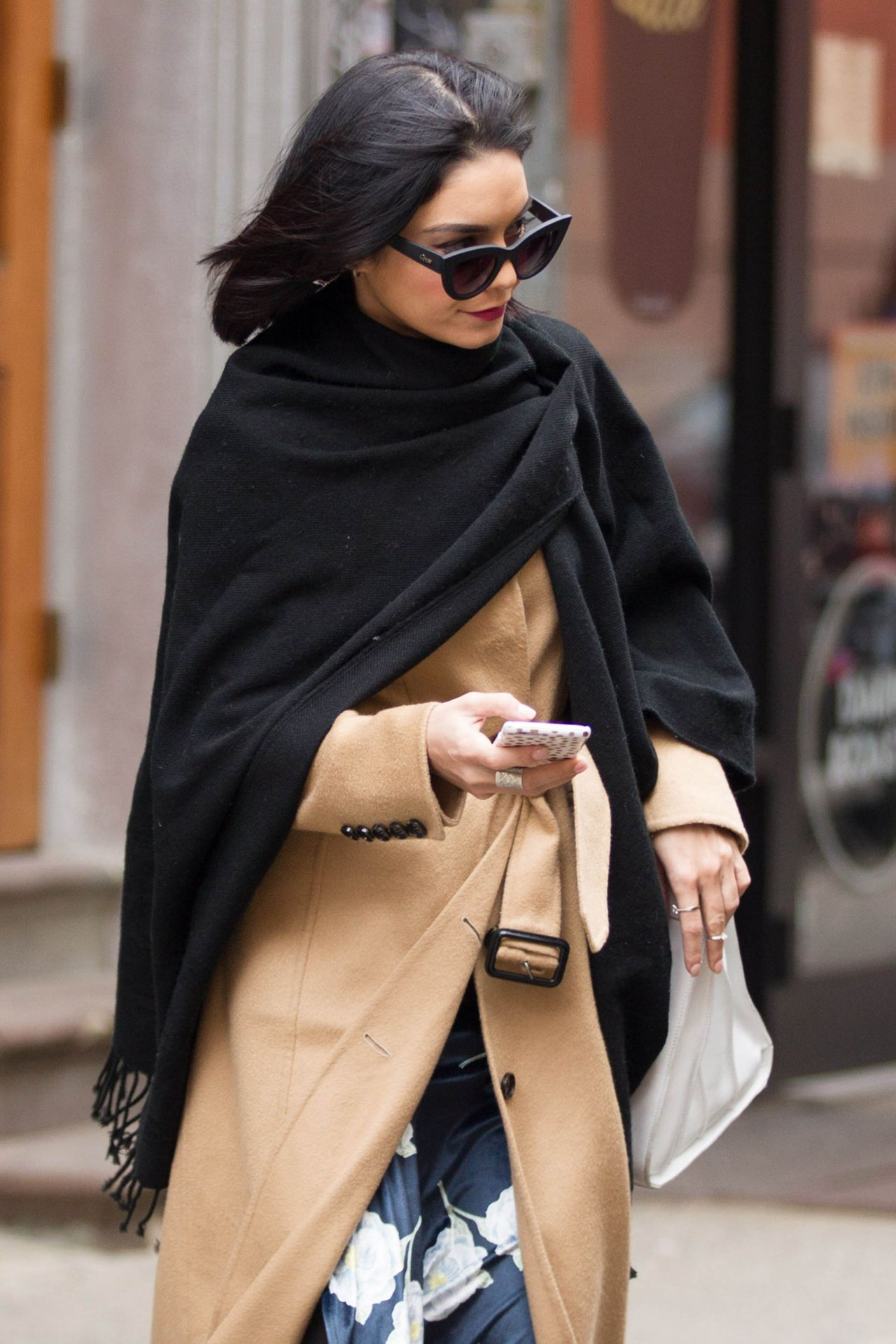 vanessa hudgens casual style out in nyc april 2015