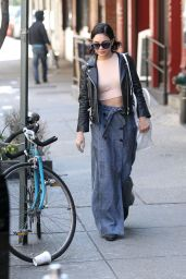 Vanessa Hudgens - Heads Out of Her Apartment Downtown in NYC, April 2015
