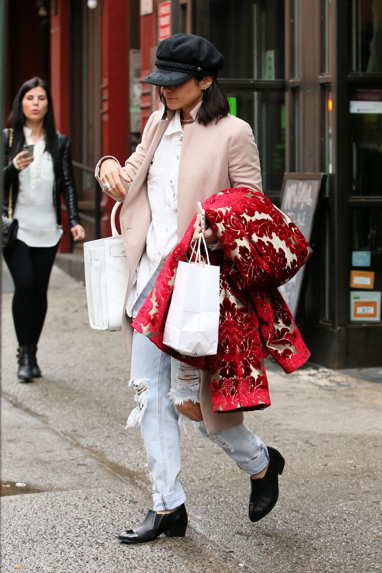 Vanessa Hudgens in Ripped Jeans - Out in New York City ...