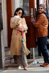 Vanessa Hudgens - Leaving Her Residence in New York, April 2015