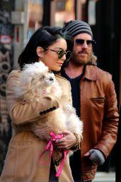 Vanessa Hudgens - Leaving Her Residence in New York, April 2015