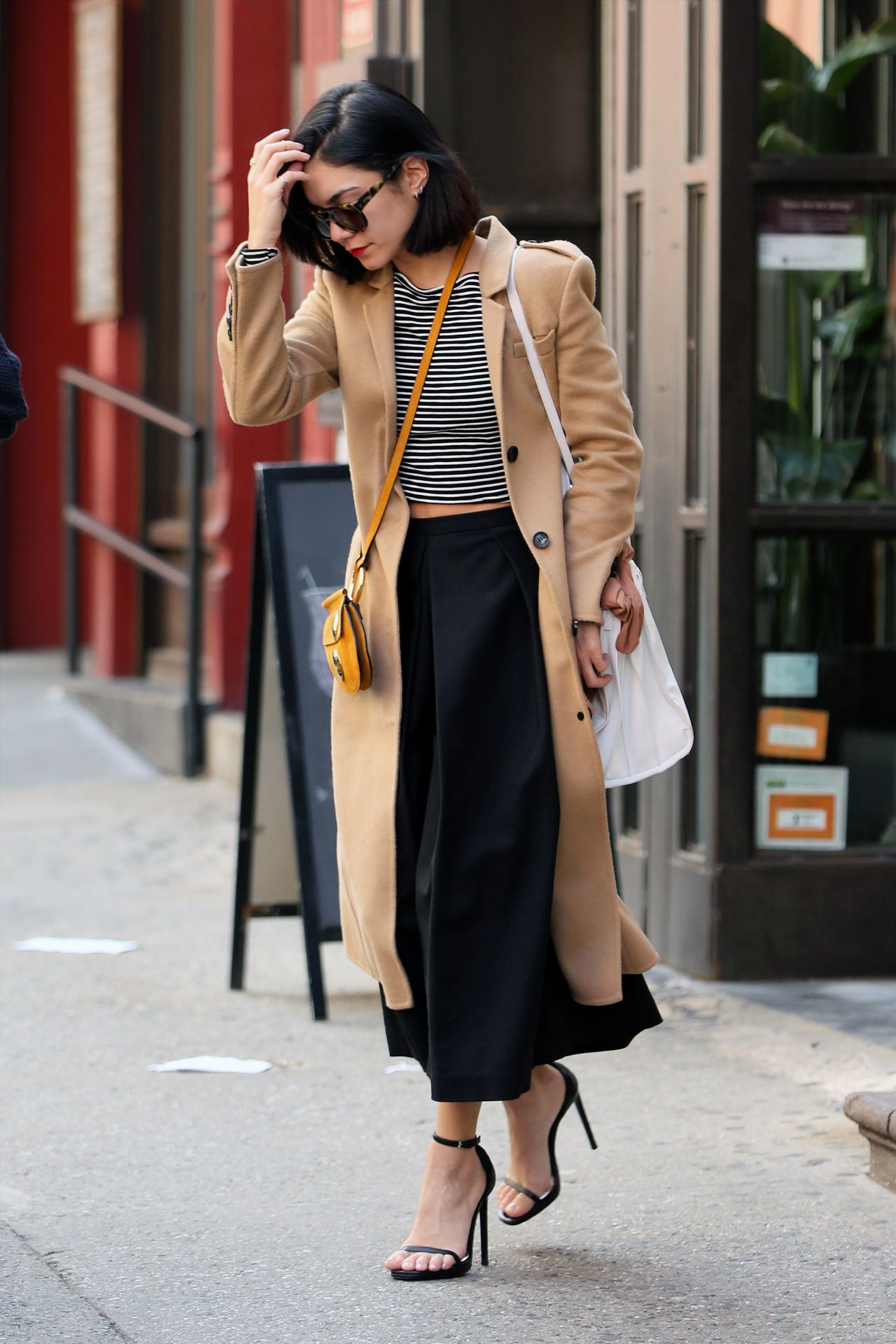 Vanessa Hudgens Spring Style Leaving Her Apartment In Soho April 2015