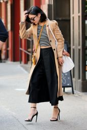 Vanessa Hudgens Spring Style - Leaving Her Apartment in Soho, April 2015