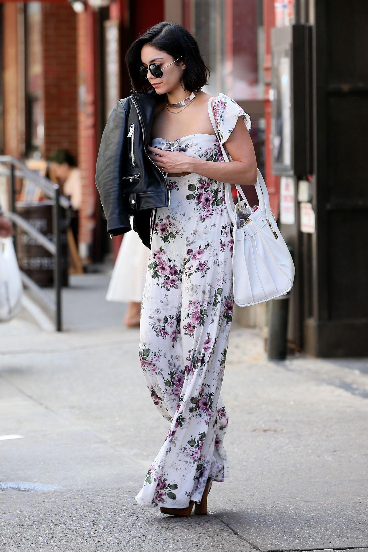 Vanessa Hudgens Street Fashion Out In Soho New York City April 2015