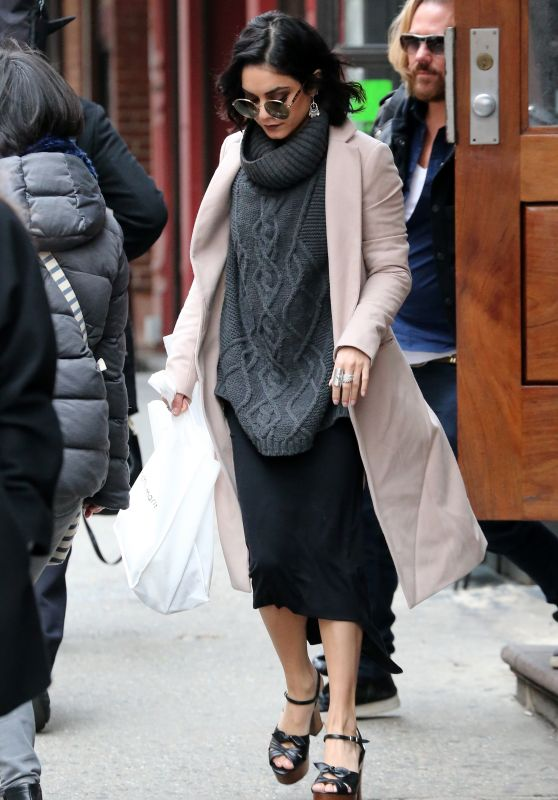 Vanessa Hudgens Style - Leaving Her Hotel in New York City, April 2015