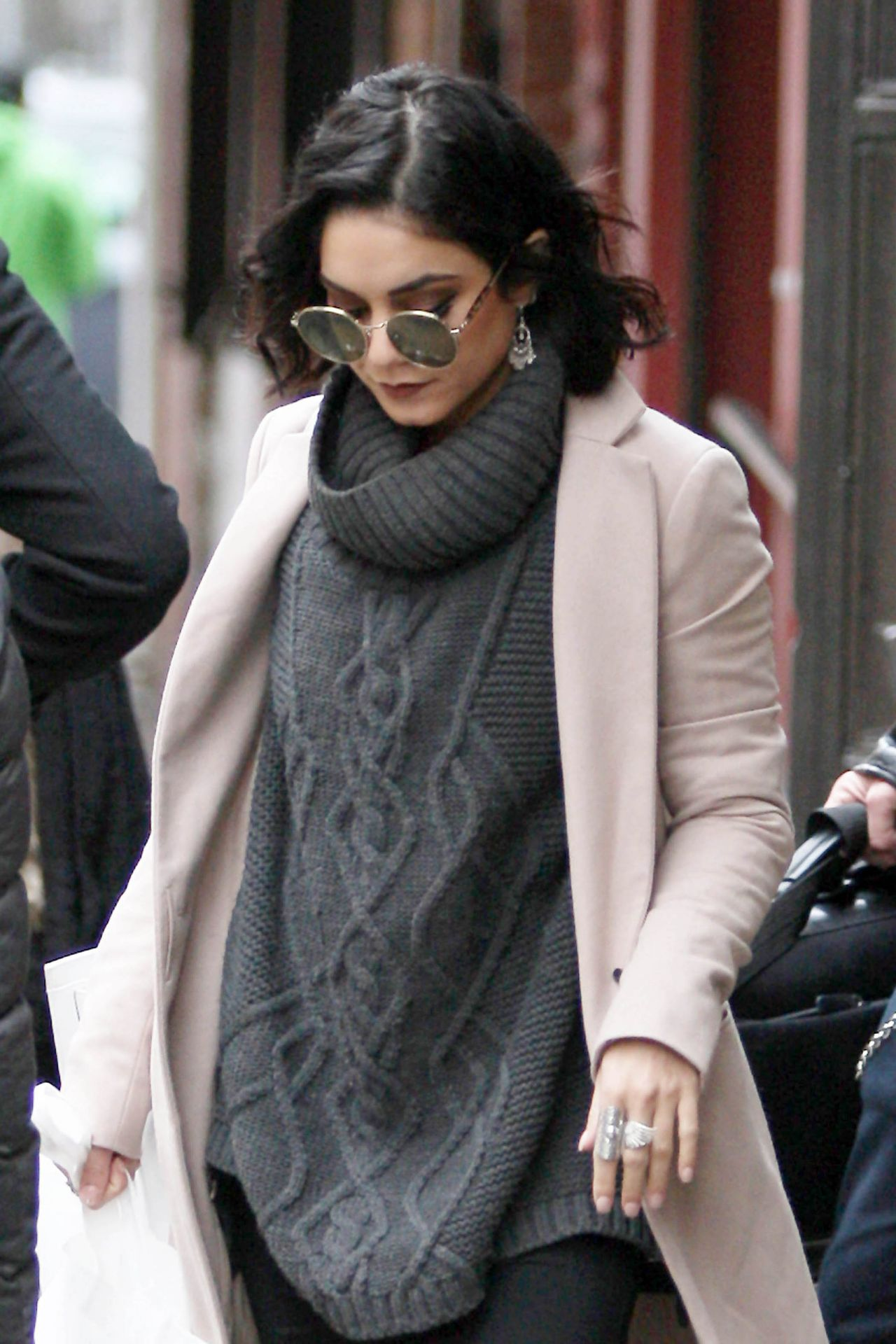 Vanessa Hudgens 2015 Celebrity Photos Style Leaving Her Hotel In New York City April