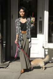 Vanessa Hudgens Walks Her Dog in Soho, New York City, April 2015