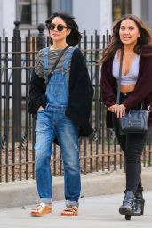 Vanessa & Stella Hudgens - Hanging out in New York City, April 2015