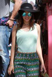 Victoria Justice at a Flea Market in Los Angeles, April 2015