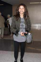 Zendaya at LAX Airport, March 2015