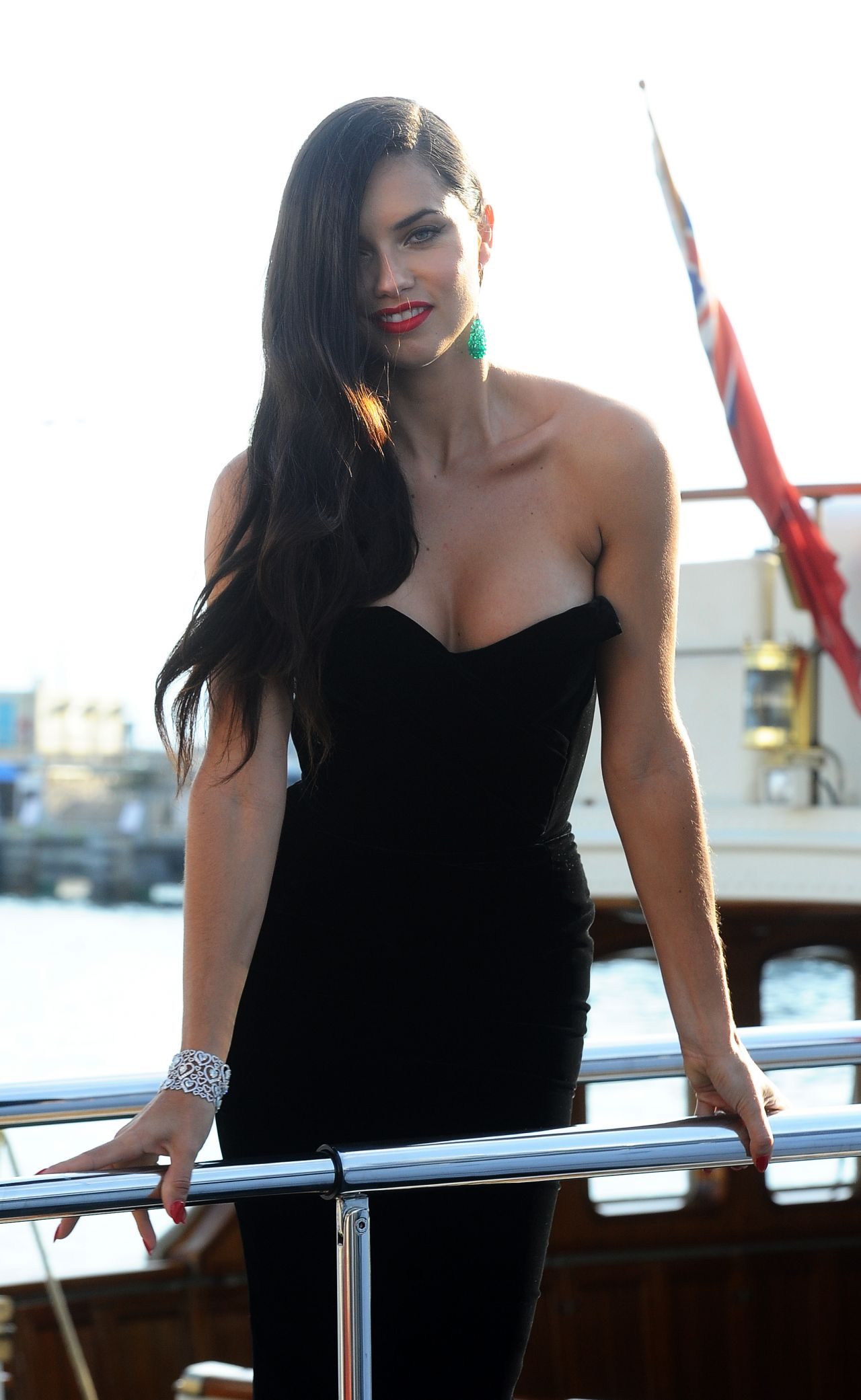 Adriana Lima Boards A Yacht In Cannes May 2015