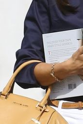 Alessandra Ambrosio - Carrying a Book After a Meeting in Beverly Hills, May 2015