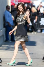 Alexandra Daddario - Arriving at Jimmy Kimmel Live in Hollywood, May 2015
