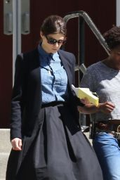 Alexandra Daddario - On the Set of The Layover in Vancouver, May 2015