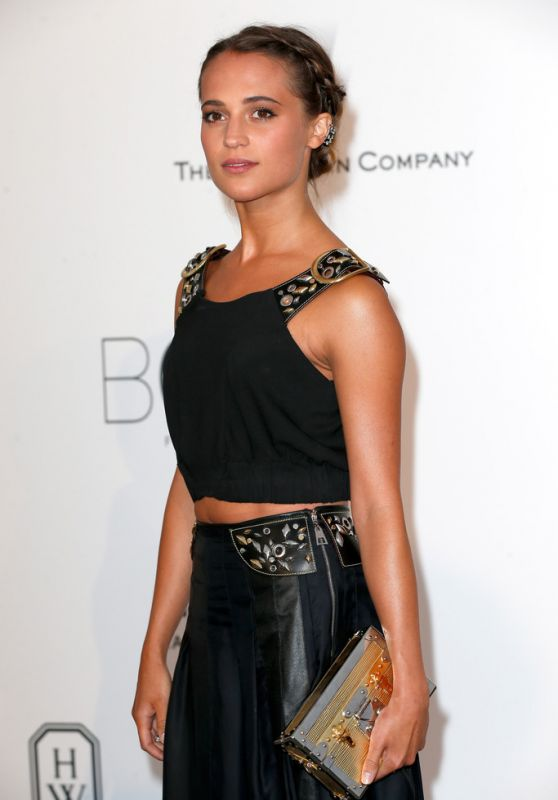 Alicia Vikander - 2015 amfAR Cinema Against AIDS Gala in Antibes (France)