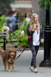 Amanda Seyfried - Out With Finn in NYC, May 2015