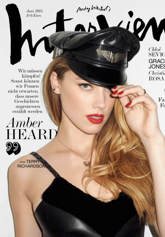 Amber Heard – Terry Richardson Photoshoot for Interview Magazine June 2015