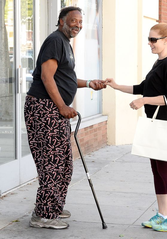 Amy Adams in Leggings - Shopping in Los Angeles, April 2015