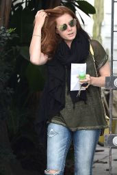 Amy Adams - Leaving Balayage Salon in Los Angeles, May 2015