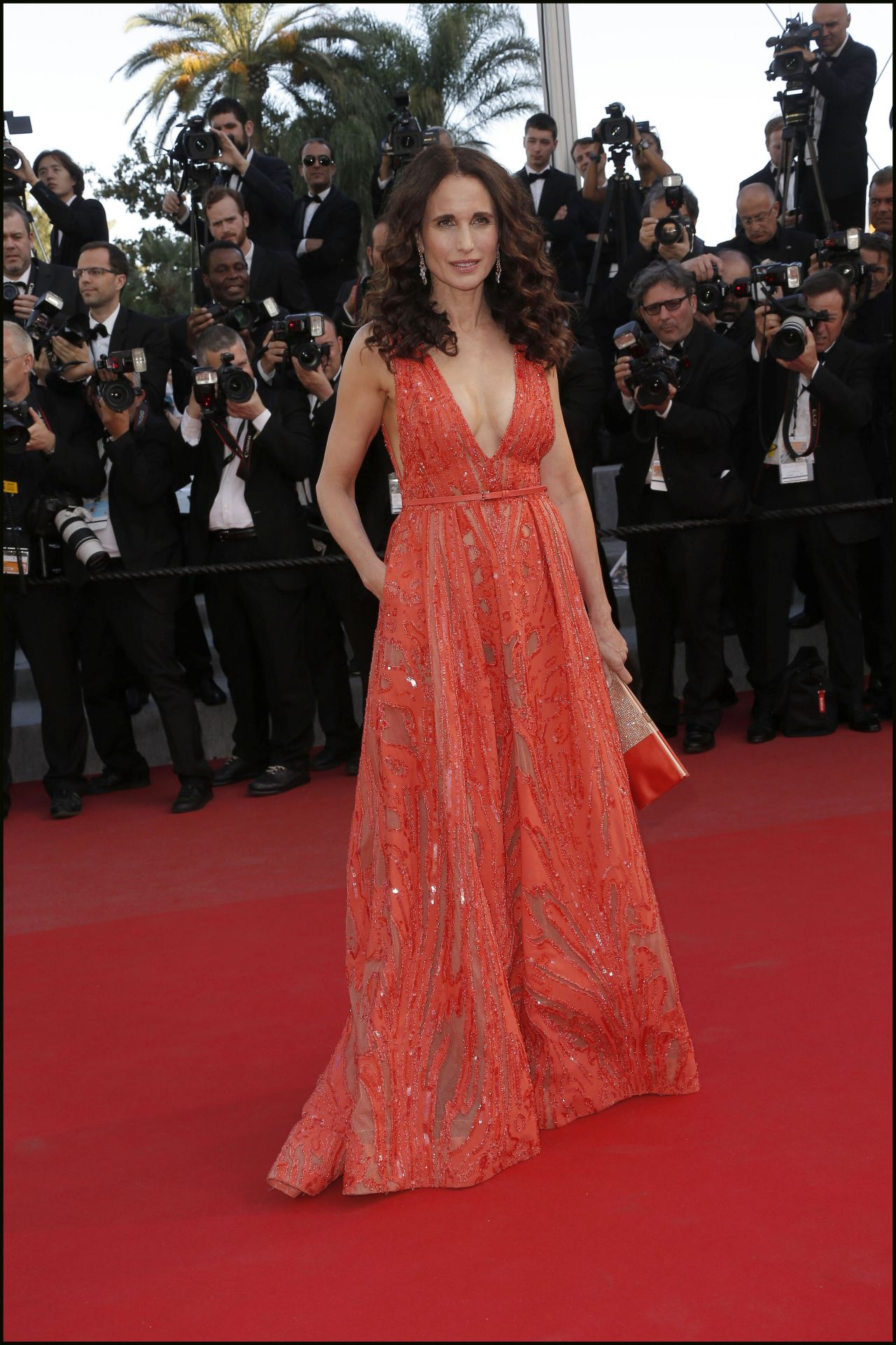 andie macdowell inside out premiere 2015 cannes film festival. Black Bedroom Furniture Sets. Home Design Ideas