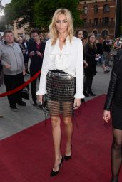 Anja Rubik - Arrive to Closing Ceremony PKO Off Camera in Krakow in Poland, May 2015