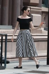 Anne Hathaway Spring Style - Out in New York City, May 2015