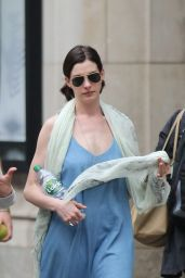 Anne Hathaway - Walking to the Public Theatre in New York City, May 2015
