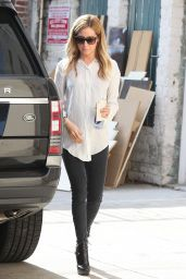 Ashley Tisdale Casual Style - Leaving a Salon in Los Angeles, May 2015