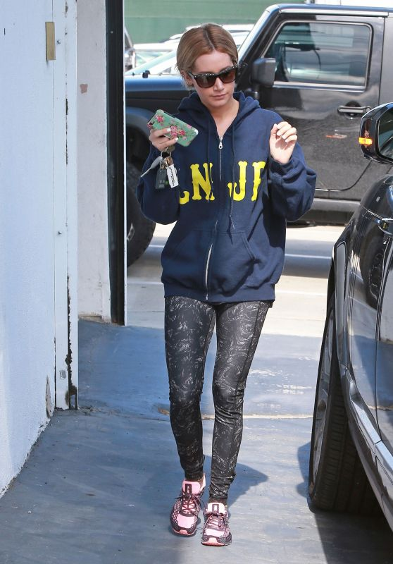 Ashley Tisdale - Leaves the Gym in Melrose, May 2015