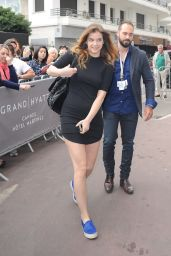Barbara Palvin in Mini Dress - Leaving Her Hotel in Cannes, May 2015