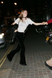 Behati Prinsloo Night Out Style - at the Chiltern Firehouse in London, May 2015