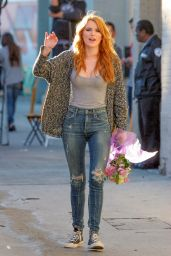 Bella Thorne in Jeans - Arriving at Jimmy Kimmel Live!, May 2015