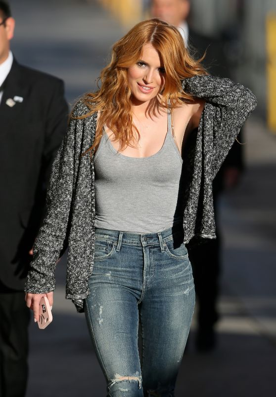 Bella Thorne in Jeans – Arriving at Jimmy Kimmel Live!, May 2015