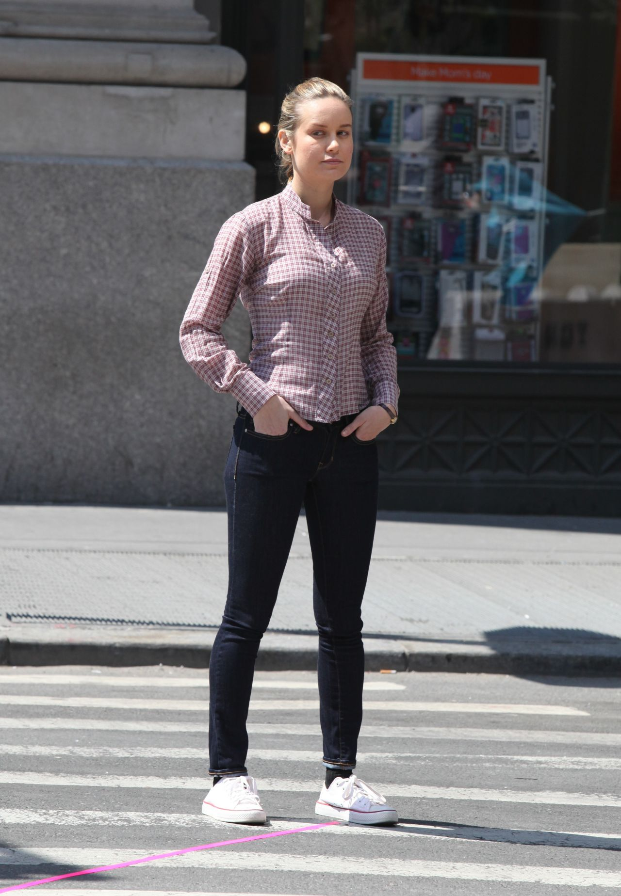 Brie Larson On The Set Of Basmati Blues In New York May