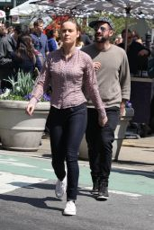 Brie Larson - On the Set of Basmati Blues in New York, May 2015