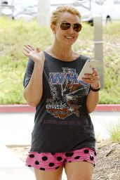 Britney Spears in Shorts - Out in Westlake Village, May 2015