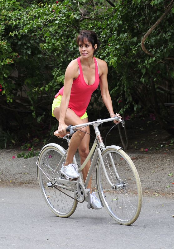 Brooke Burke - Riding a Bike in Malibu - May 2015