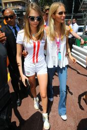 Cara and Poppy Delevingne at 2015 Monaco Grand Prix, May 2015