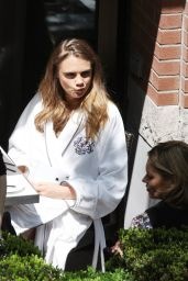 Cara Delevingne - On the Set of a Photoshoot in Toronto, May 2015