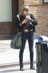 Cara Delevingne Street Style - Leaving the Bowery Hotel in New York City, May 2015