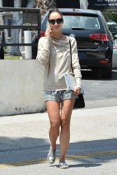 Cara Santana Leggy in Shorts - Out in Los Angeles, May 2015