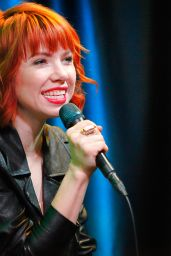 Carly Rae Jepsen at Q102 Studios in Bala Cynwyd, Pennsylvania