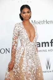 Chanel Iman – 2015 amfAR Cinema Against AIDS Gala in Antibes (France)