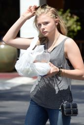 Chloe Grace Moretz in Jeans - Picking up Some Food to go in Beverly Hills