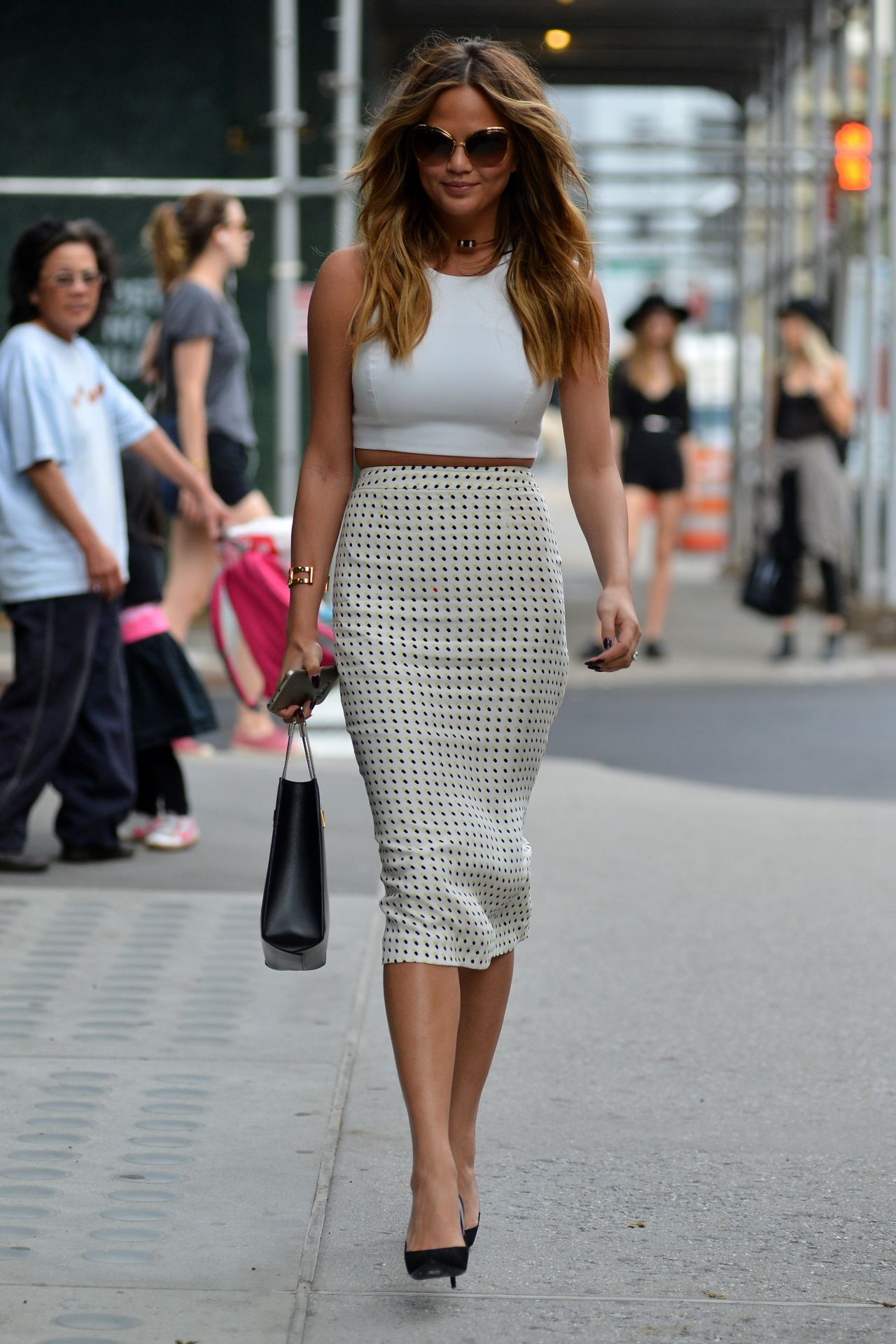 Chrissy Teigen Style – Out in Soho, in New York, May 2015