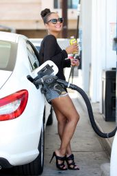 Christina Milian at a Gas Station in Studio City, May 2015