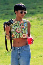 Christina Milian at a Memorial Day Cookout in Studio City, May 2015