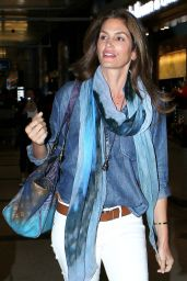 Cindy Crawford at LAX Airport, May 2015