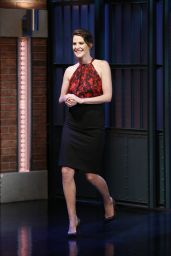 Cobie Smulders at Late Night With Seth Meyers in New York, April 2015