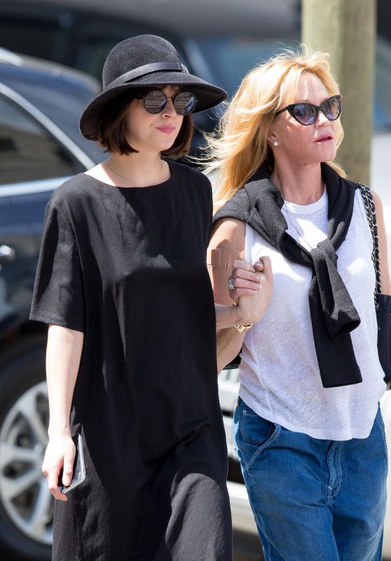 Dakota Johnson - With Her Mother Melanie Griffith Walking Around Tribeca in NY, May 2015